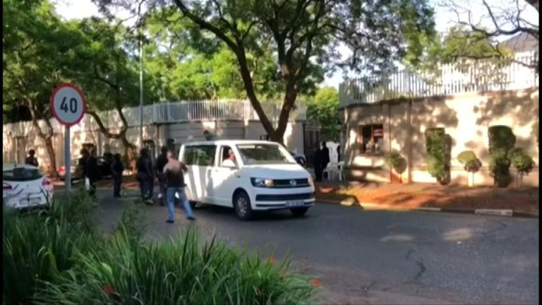 Police descended on the compound on Wednesday morning