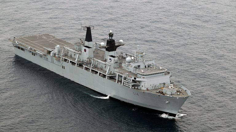 HMS Albion is one of the two ships at risk