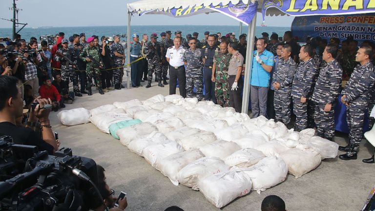 The drugs were found in bag's in the boat's storage area