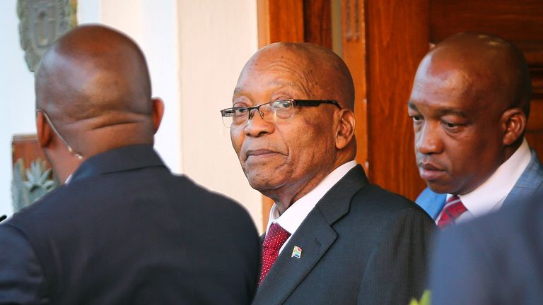 Jacob Zuma has been refusing to stand down from South Africa's presidency
