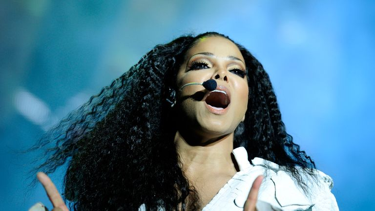 Janet Jackson performs on stage