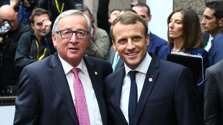 Jean-Claude Juncker and Emmanuel Macron