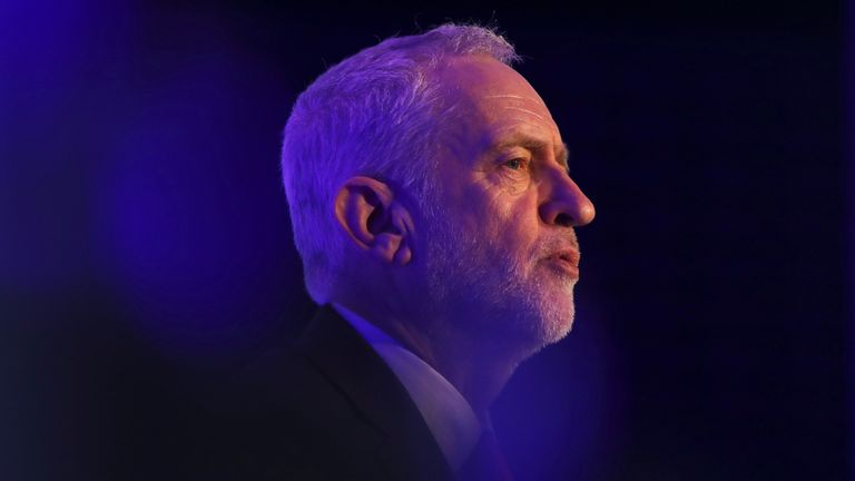 Jeremy Corbyn answers questions after speaking to the EEF Manufacturer's Organisation