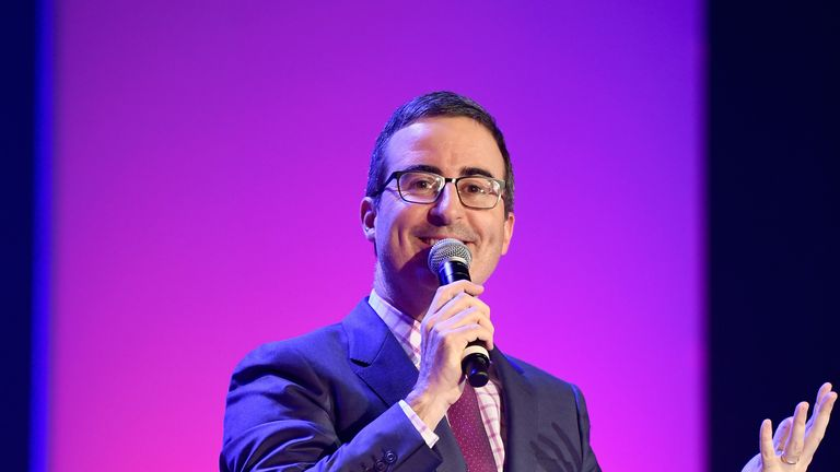 John Oliver on stage in New York last June