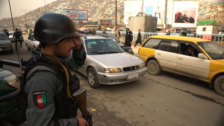 Police act on information that two suspected car bombs have entered the city