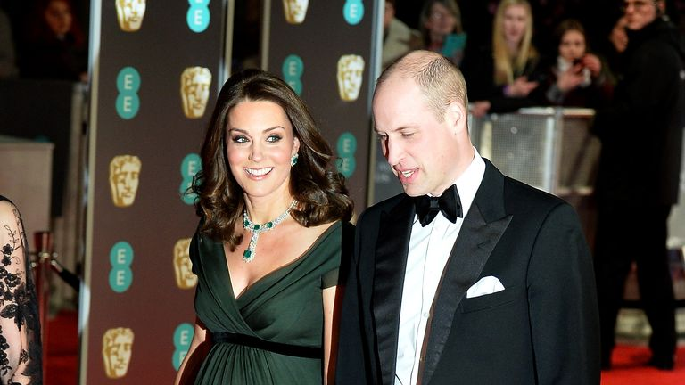 The Duchess of Cambridge gave a nod to Time's Up with a black ribbon