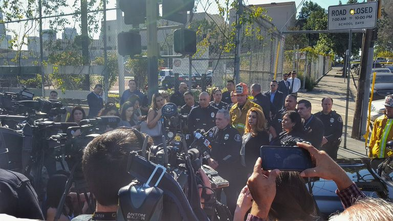 Police in Los Angeles update parents after a school shooting involving two 15-year-olds