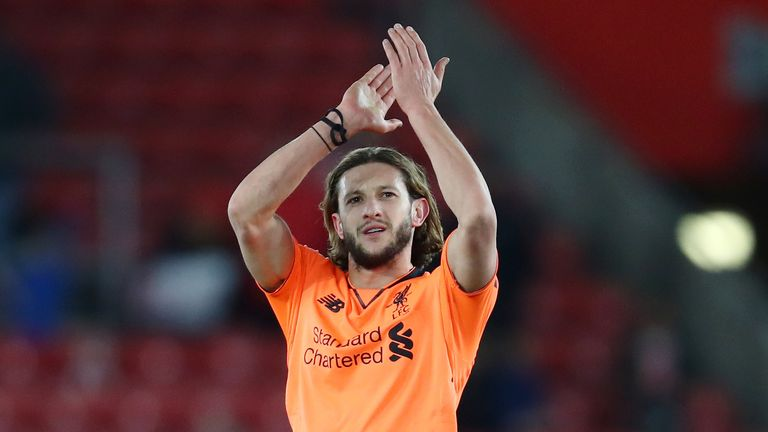 Adam Lallana came on as a sub in the 79th minute