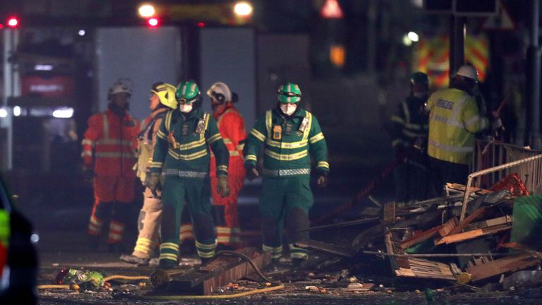 A total of six people were taken to hospital