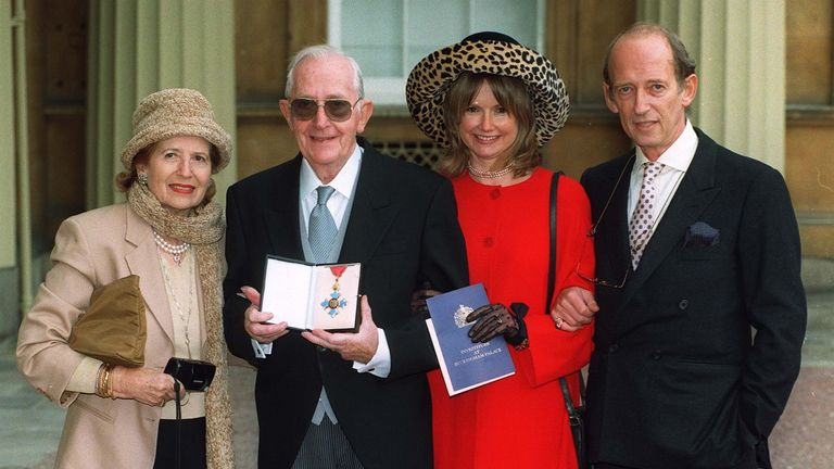 Lewis Gilbert received a CBE at Buckingham Palace in 1997