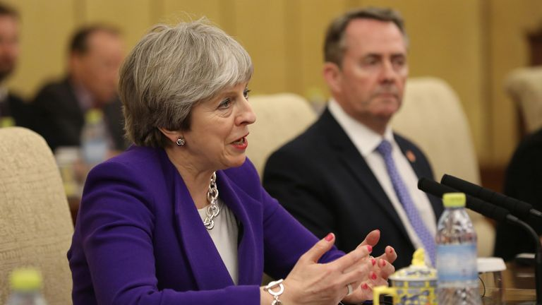 Theresa May has not ruled out striking a deal on frictionless trade, although Liam Fox has ruled out entering a customs union