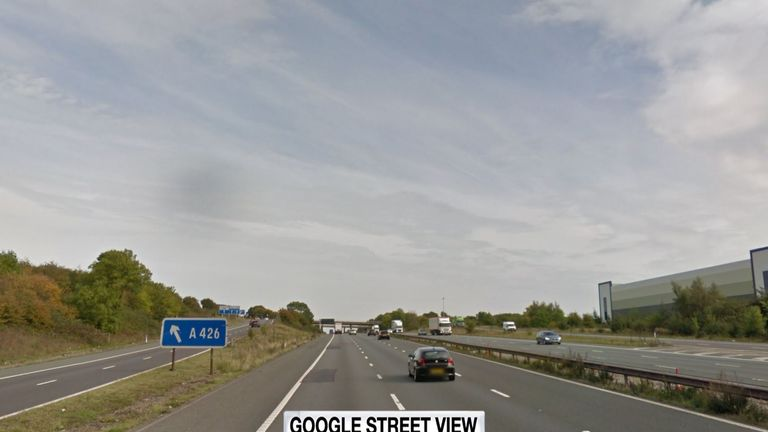 The accident happened as the vehicles came off the M6 for the A426