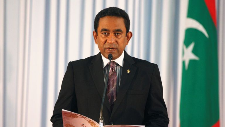 President of the Maldives Yameen Abdul Gayoom