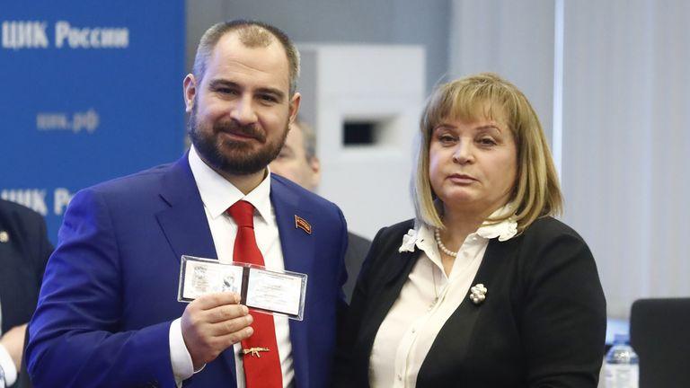 Maxim Suraikin - billed as an alternative to the main Communist Party