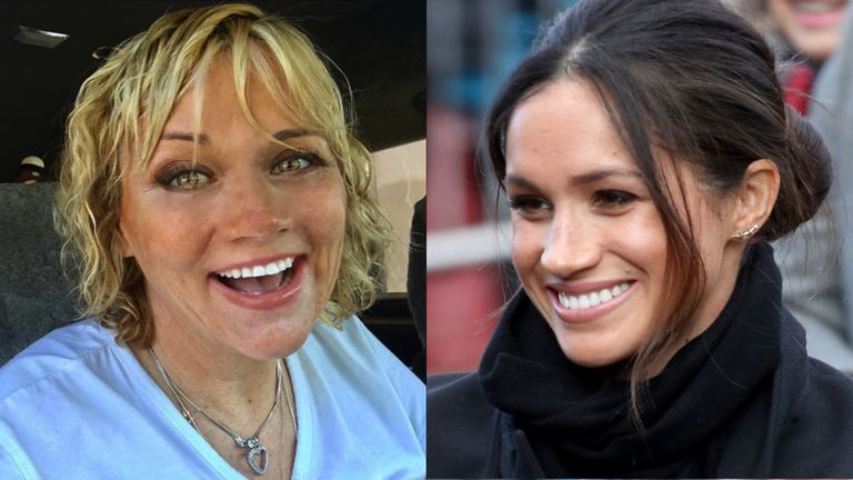 Meghan Markle and half-sister Samantha Markle