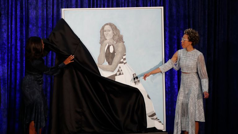 Michelle Obama and Amy Sherald unveil the former first lady's portrait