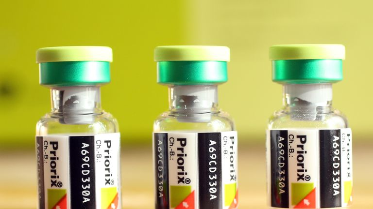 The MMR vaccine protects against measles, mumps and rubella