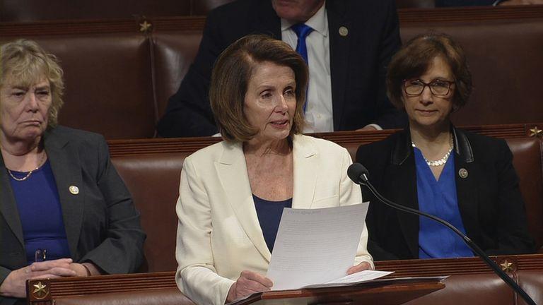 Nancy Pelosi spoke for eight hours