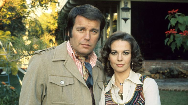 Natalie Wood and Robert Wagner at home, America - 1976