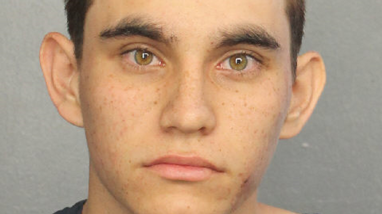 A mugshot taken after Nikolas Cruz's arrest. Pic: Broward County Sheriff's Office