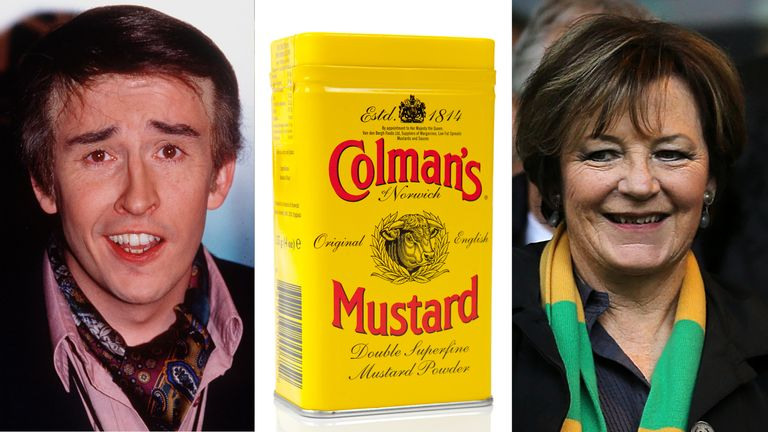 Alan Partridge, Delia Smith and Colman's Mustard