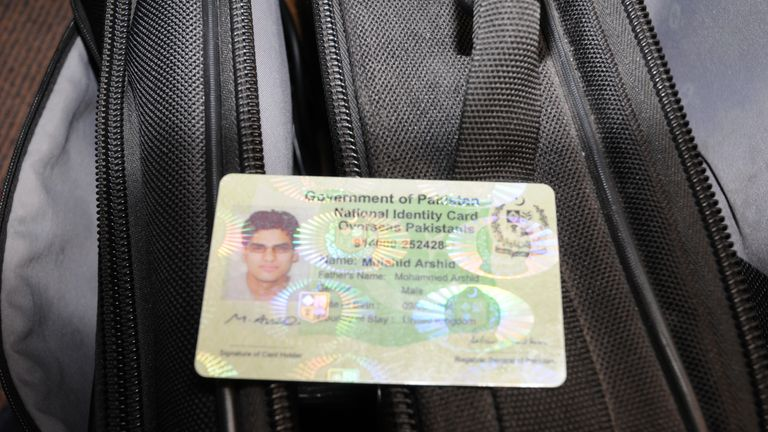 Government of Pakistan National Identity Card in name of Mujahid Arshid