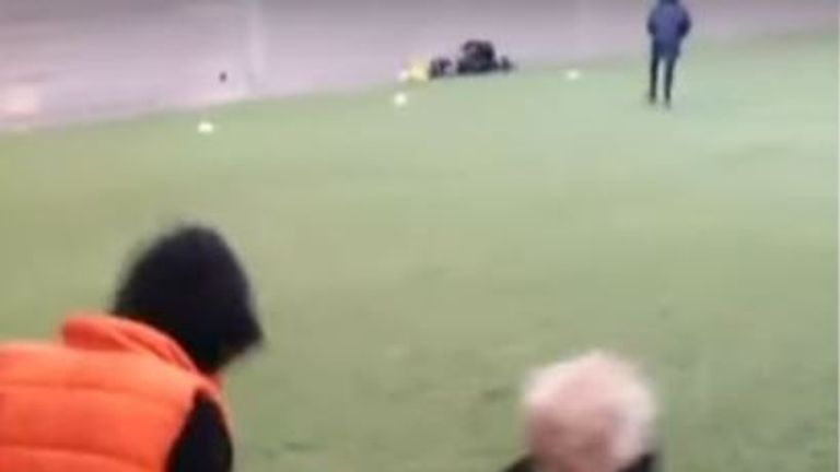 Corey and Casper Platt-May's father has put up footage of them playing football.