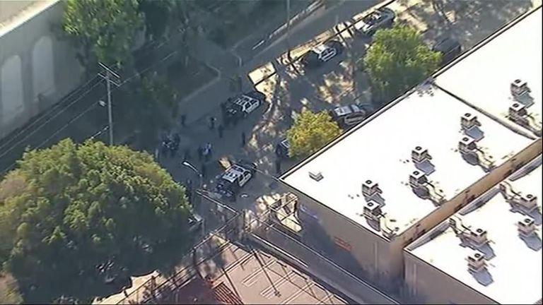 The police at the school in LA