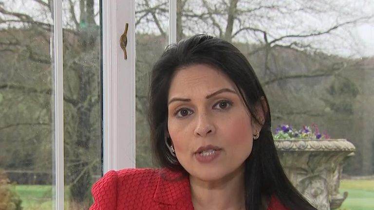 Priti Patel says the chief executive of Oxfam should resign