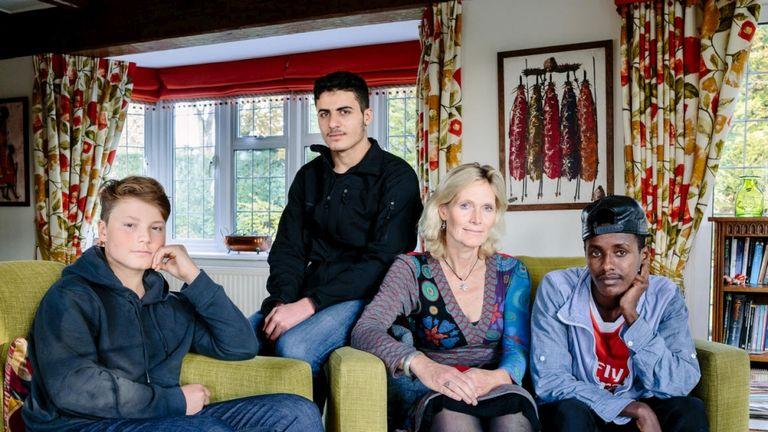 Ingrid Van Loo Plowman has taken in three refugees. Pic. UNHCR/Aubrey Wade