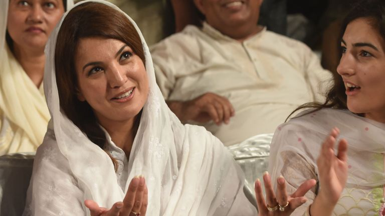 Imran Khan's second wife, Reham Khan, pictured during his campaign for a seat in the National Assembly in 2015