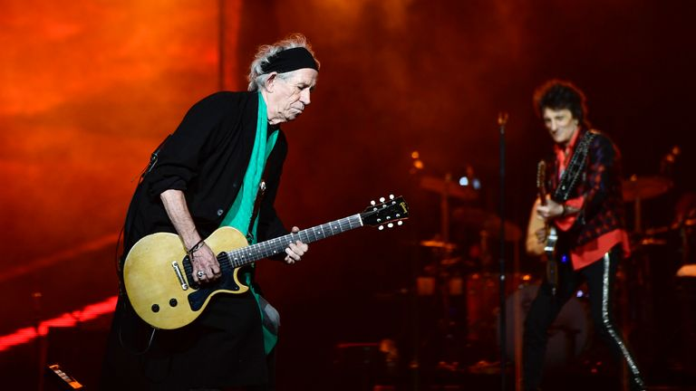 Keith Richards (l) said the band were 'just getting started'