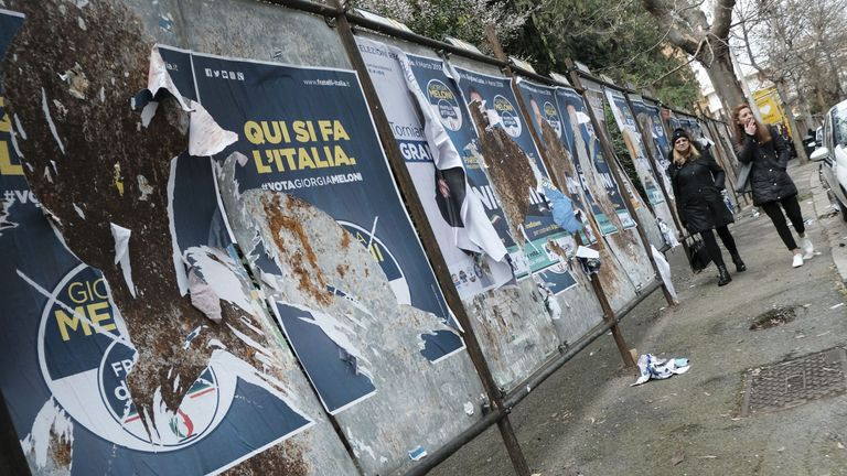 Electoral panels for candidates' posters in Rome