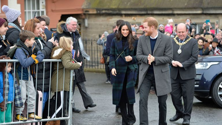 harry and meghan in edinburgh - PA