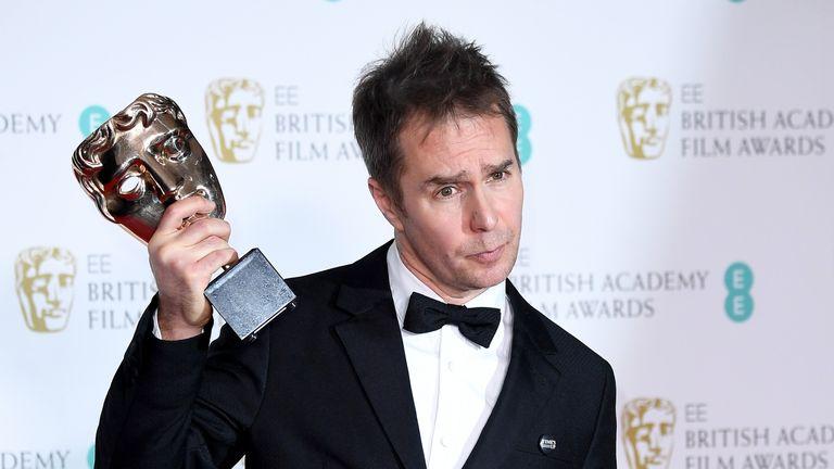 Best supporting actor winner Sam Rockwell praised his female co-stars