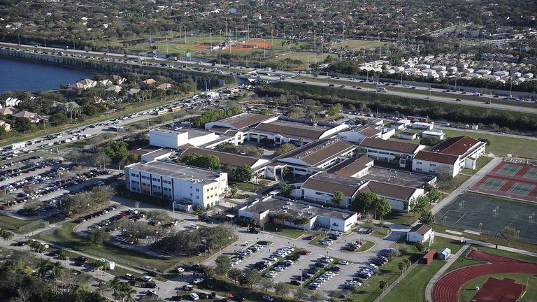 Marjory Stoneman Douglas High School holds 3,000 students reportedly