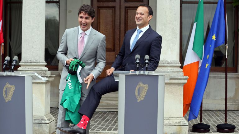 Justin Trudeau and Leo Varadkar bonded over socks