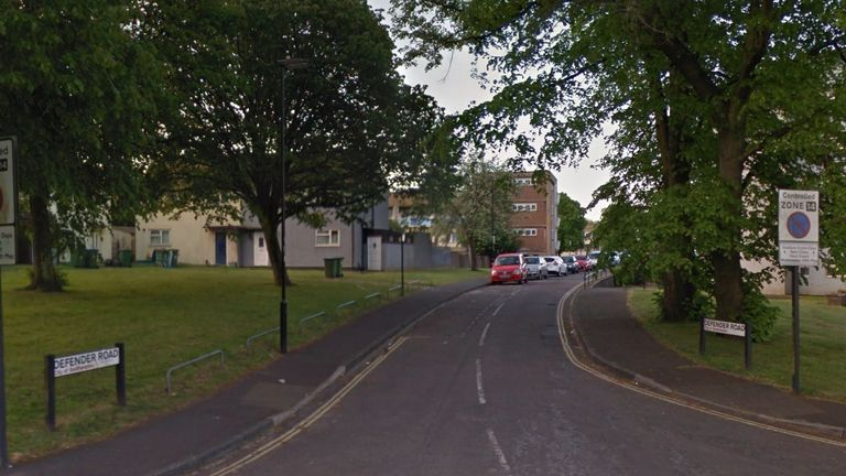Police were called to Defender Road, Southampton. Pic: Google Street View