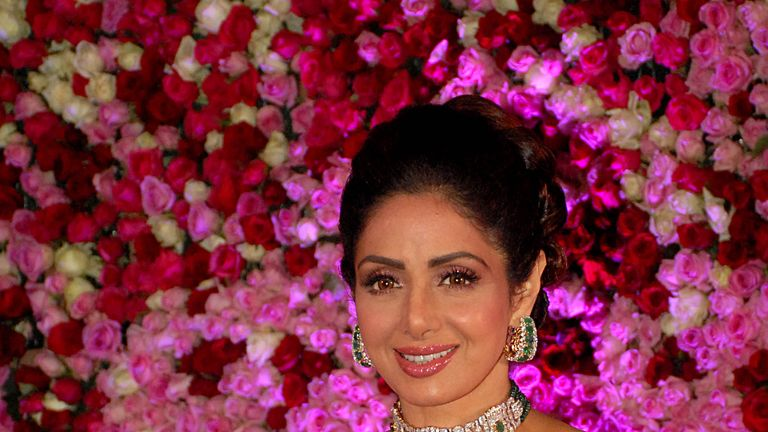 Sridevi, pictured in December 2017, was Bollywood's first female superstar