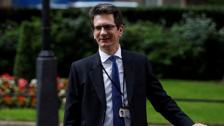 Steve Baker, a Minister at the Department for Exiting the European Union, leaves Downing Street