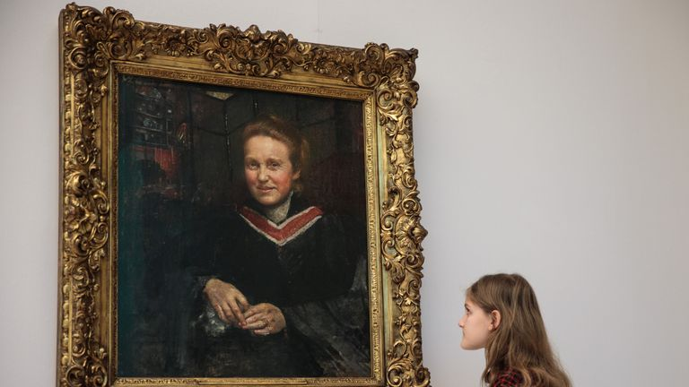 A portrait of Millicent Fawcett painted in about 1899 sits in the Tate Britain