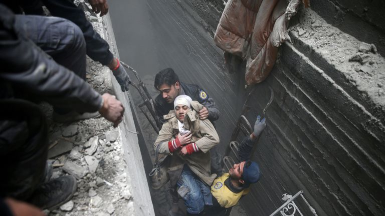 Hundreds of people have been rescued from the rubble