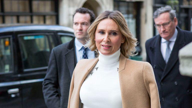 Tatiana Akhmedova arrives at the Royal Court of Justice in London