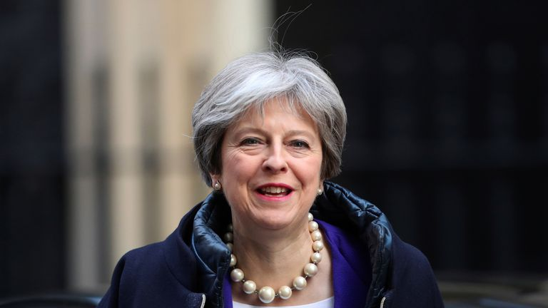 Britain's Prime Minister Theresa May returns to 10 Downing Street in London, February 6, 2018. REUTERS/Hannah McKay