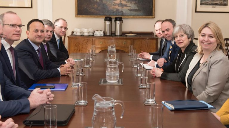 Theresa May meets Irish PM Leo Varadkar