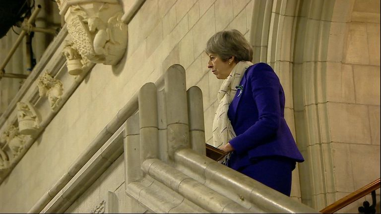 The Prime Minister speaks to MPs and peers in Westminster Hall