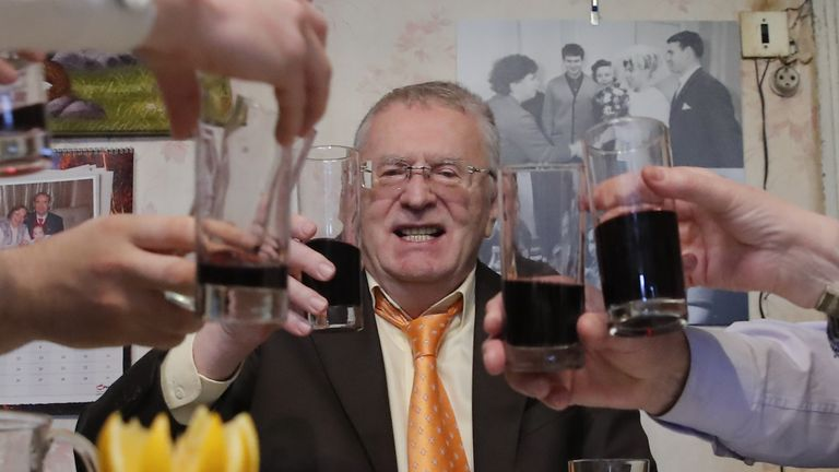 Vladimir Zhirinovsky is the oldest candidate in the race