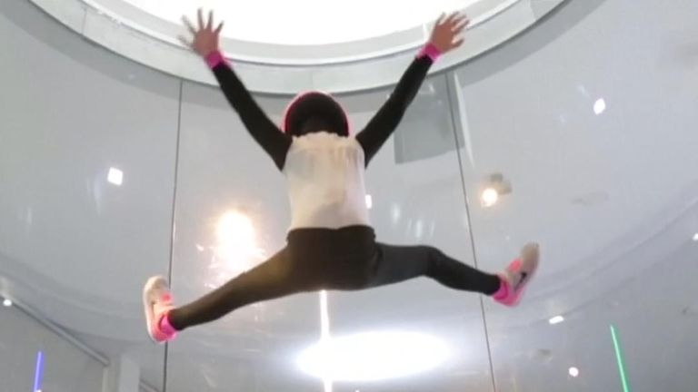 The Wind Games - indoor skydiving - has been held in Spain