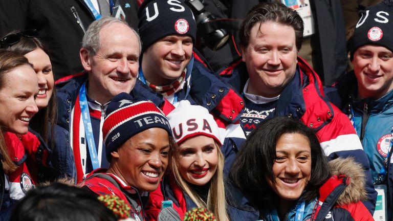 Ivanka Trump poses with Team USA members