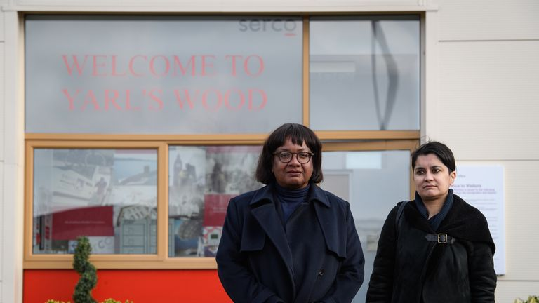 Shadow Home Secretary Visits Yarl's Wood Detention Centre
